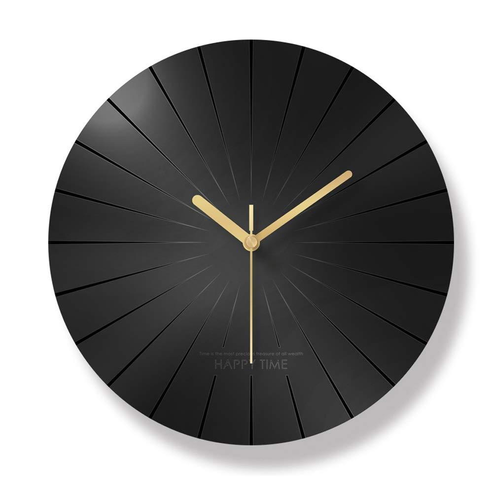 現代の丸い壁時計、アクリル時計のダニサイレントクロック家の装飾リビングルームキッチン寝室オフィススクール(黒)   B07S1WG6MV