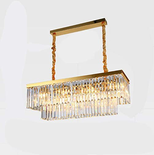 Crystal Chandelier LED 3 Brightness Gold Crystal Ceiling Light Chandelier Restaurant lamp Chandeliers Ceiling lamp