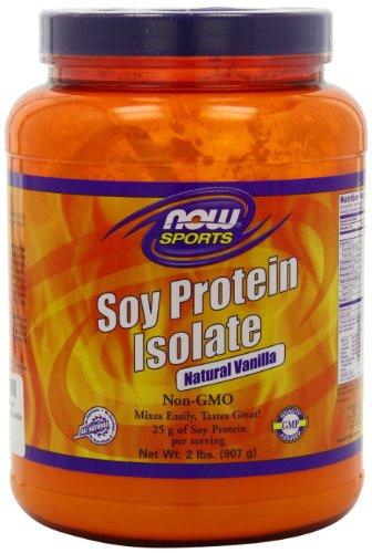 NOW Sports Soy Protein, Vanilla, 2-Pound