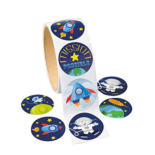 Fun Express Space Stickers (100 Pack) 1 1/2