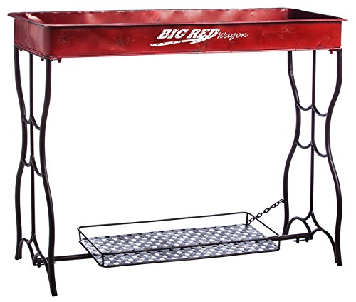 Evergreen Big Red Wagon Potting Table by Cape Craftsmen