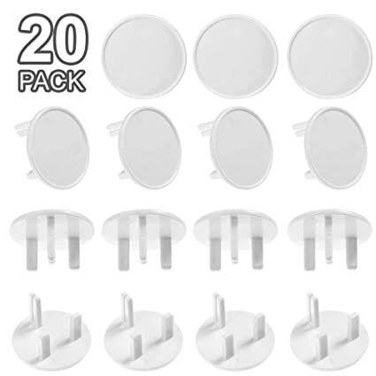 20 Baby Socket Covers Child Safety UK Plug Protector Guard Mains Electric Insert