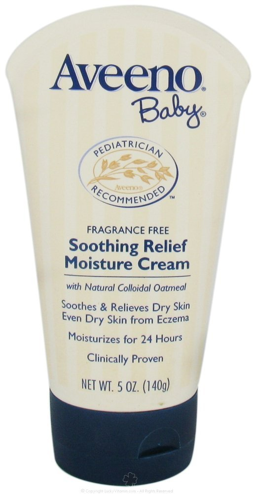 Aveeno Baby Soothing Relief Moisture Cream Fragrance Free - 5 Oz (Pack of 2)