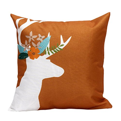 Michael Jackson 70s Costume (Gotd Elk Christmas Pillow Decorations Decor Square Deer Linen Blend Pillowcase Christmas Pillow Case Sofa Waist Throw Pillow Cushion Cover Home Decor 45cm 18inch (D))