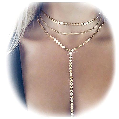 Suyi Exquisite Layered Sequins Necklace