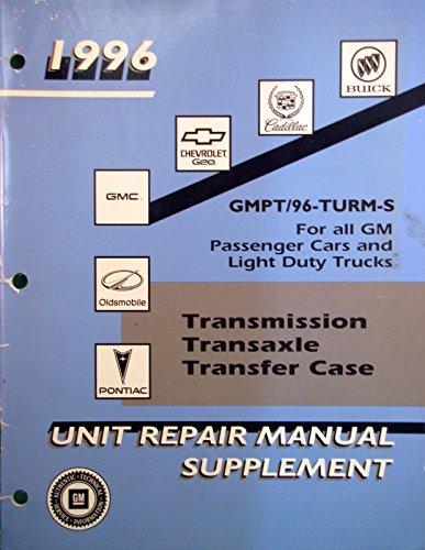 1996 Geo Tracker Transmission/Transaxle Unit Repair Manual (Transaxle Repair Manual)