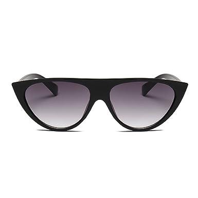 Inlefen gato ojos mujer gafas de sol personalidad moda calle ...