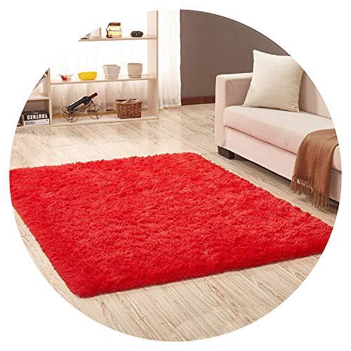 Show-Show-Fashion Shop&Living Room Carpet European Fluffy Mat Rug Bedroom Mat Anti Skid Soft Faux Fur Area Rug Rectangle Mats Black red,red,50x80cm