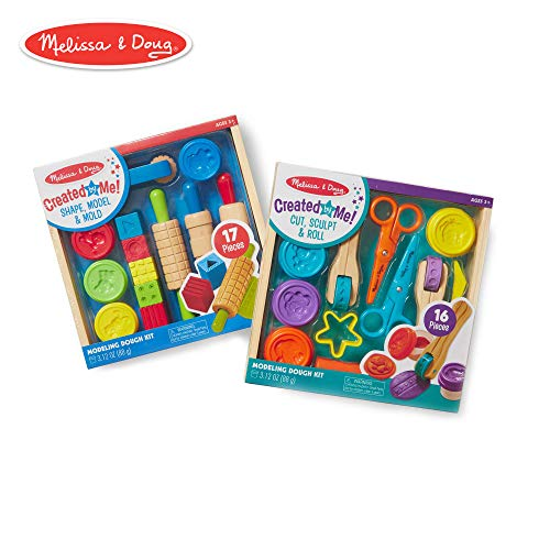 Melissa & Doug Clay Play Activity Set With Sculpting Tools and 8 Tubs of Modeling Dough (Arts & Crafts, 2 Complete Kits)