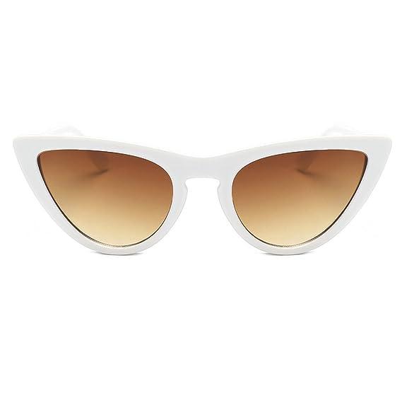 Damen Retrobrille Vintage Objektiv Sonnenbrillen Brille Kunststoffrahmen Gläser