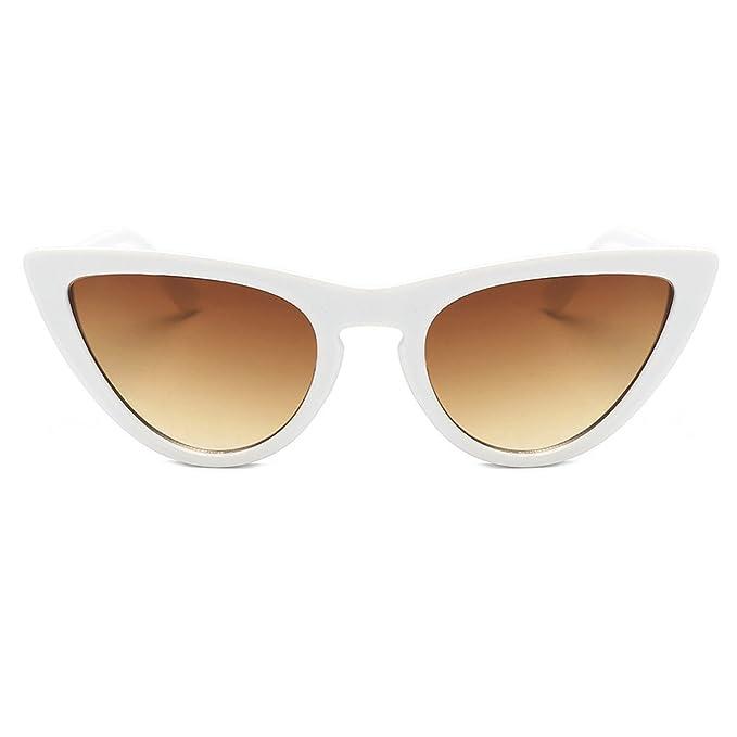 YEBIRAL Gafas de Sol Ojo de Gato Polarizadas Retro Vintage ...