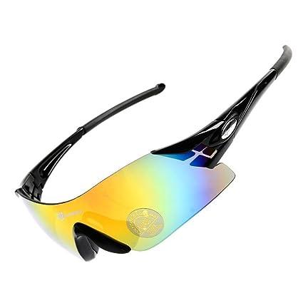 2696a09863 Hysenm Photochromic Frameless Single Lens UV400 Sunglasses Cycling Fishing  Climbing Eyewear
