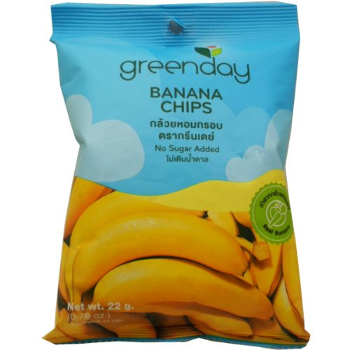 Crisp Banana Chips Snack Real Fruit Net Wt 22g (0.78 Oz) X 2 Bags