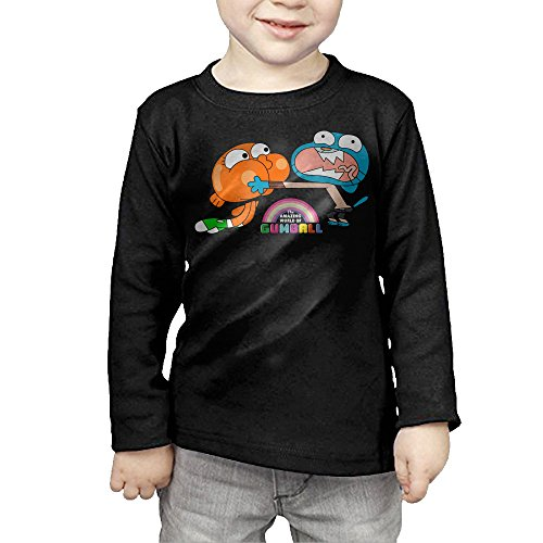 [CAYCGH Child Kids The Amazing World Of Gumball Brother Long Seelve Baseball Jersey T-Shirt Tee 4] (Gumball Machine Costume For Kids)