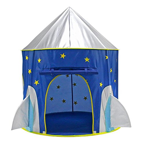MagiDeal Juguete de Tienda de Campaña Infantil Plegable Luminiscentes Forma de Cápsula Espacial para Niños