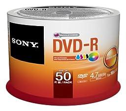 Sony 50DMR47PP 50 Pack Ink-Jet Printable DVD-R Bulk Spindle