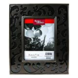 """Better Homes And Gardens Pewter Tabletop / Wall Hanging Large-Size 5""""x7"""" Photo Frame"""