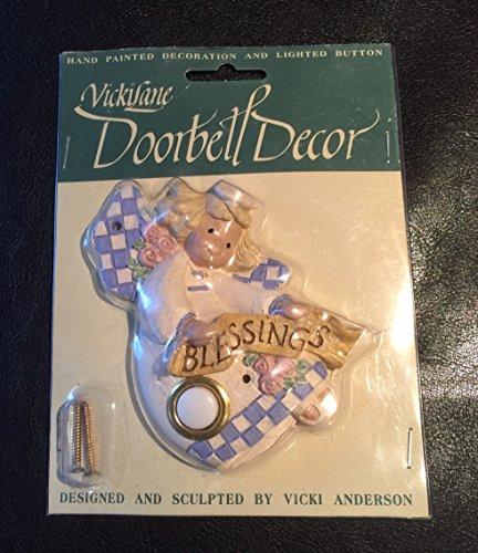 - Vicki Lane Hand Painted Angel Blessings Doorbell Decor