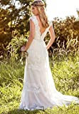 Dressesonline Womens Bohemian Wedding Dresses Lace Bridal Gowns Backless Vestido De Noivas
