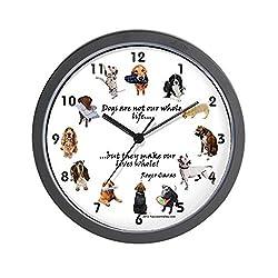 CafePress - CLOCK - Dog Lovers - Unique Decorative 10 Wall Clock