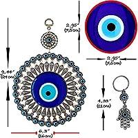 Bead Global Turkish Big Glass Turkish Evil Eye Bead Home Protection Charm Hanging Ornament Wall Decor Blue Ornaments Amazon Com Au