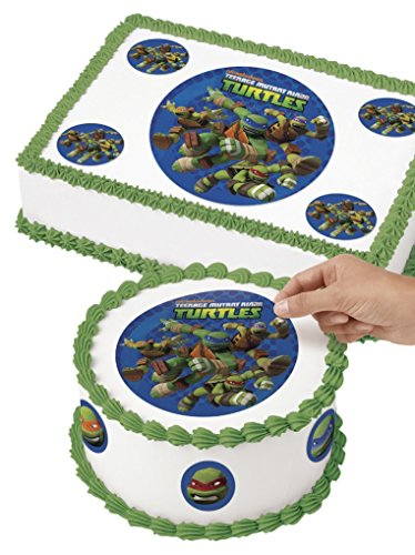 Wilton 710-7746 TMNT Edible Images Cake Decorating Kit, Multicolor (Birthday Decorate Cake A)