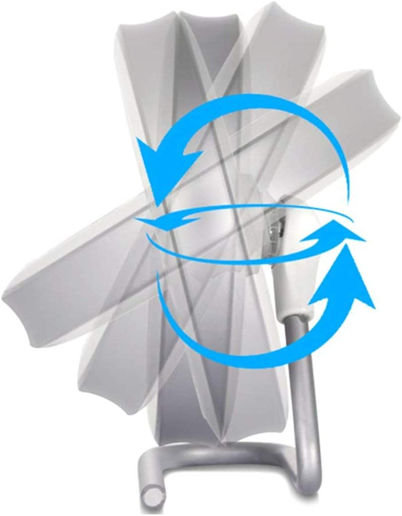 HAOXIONG-ZHANG Desktop Stand USB Fan Miniskirt Portable Charging Office Desktop Tacit Small Fan Electric Fan Color : Blue