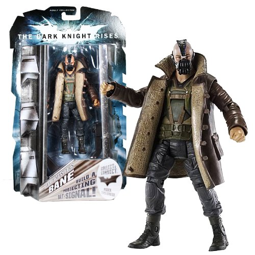 "Mattel Year 2011 Batman Movie Masters ""The Dark Knight Rises"" Series 6 Inch Tall Action Figure - BANE with ""Built A Projecting Bat Signal"" Piece #2"