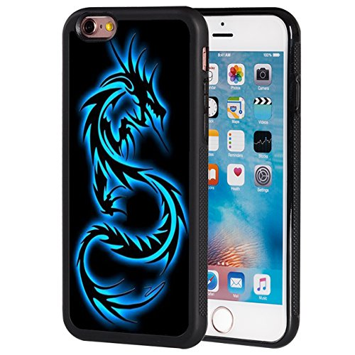 iPhone 6S Case,iPhone 6 Case,AIRWEE Slim Anti-Scratch Shockproof Silicone TPU Back Protective Cover Case for Apple iPhone 6/6S 4.7 inch,Blue Dragon -