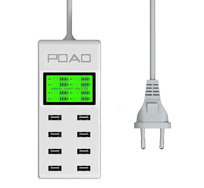 PAO 8 inteligentes Puertos USB con la sola pantalla multi-puerto ...