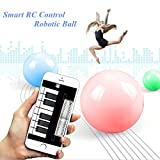 Smalody App Controlled wireless robotic ball for IOS Android Devices robot ball Intelligent remote control toys (White)