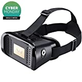 Elecstars 3D VR Glasses Virtual Reality Headset for iPhone & 3.5 to 6.0 Inches Smartphones [IMAX 3D Movies/Immersive VR Gaming]-Black