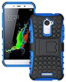 Dashmesh Shopping Kick Stand Hard Dual Armor Hybrid Bumper Back Case Cover for Coolpad Note 3 Lite - Power Blue