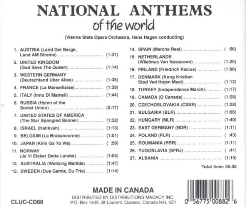 various artists national anthems of the world amazon com music