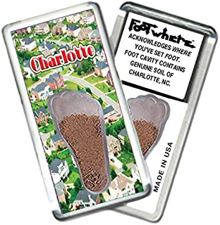 """product image for Charlotte""""FootWhere"""" Souvenir Fridge Magnet. Made in USA (CH202 - DaHood)"""