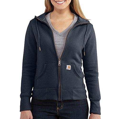Carhartt Women's Sandpoint Zip Front Non Logo Sweatshirt, Indigo Heather, ()
