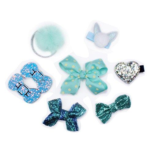 Girl Hairpin Set, 8 Pcs Kids Hair Accessories Cute Bow Knot & Cartoon Hair Clips