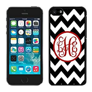 linJUN FENGHit Color Black Chevron Red Monogra TPU Iphone 5c Black Case Soft Silicone Cellphone Cover