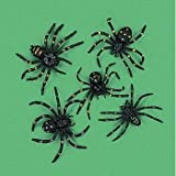 "Party902 - Strechy and Scary Plastic Spiders, 2"", Made of plastic (1-Pack of 12)"