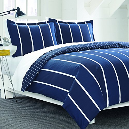 Nautica Twin Size Comforter (Nautica Knots Bay Duvet Cover Set, Navy, Striped, Twin)