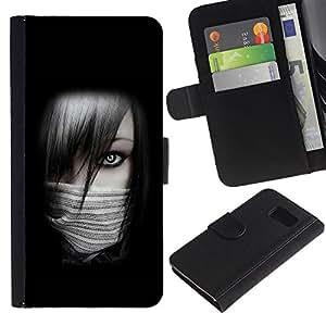EuroCase - Samsung Galaxy S6 SM-G920 - Sexy Ninja Girl - Cuero PU Delgado caso cubierta Shell Armor Funda Case Cover