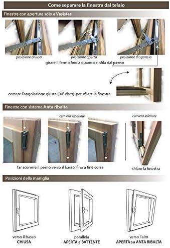 Finestra in legno lamellare grezzo cm L 70 X 50 H vasistas,levigata,doppio vetro