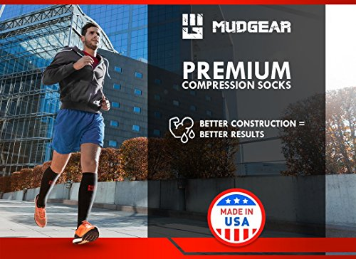 MudGear Premium Compression Socks - Mens & Womens running hiking trail (1 Pair) by MudGear (Image #4)