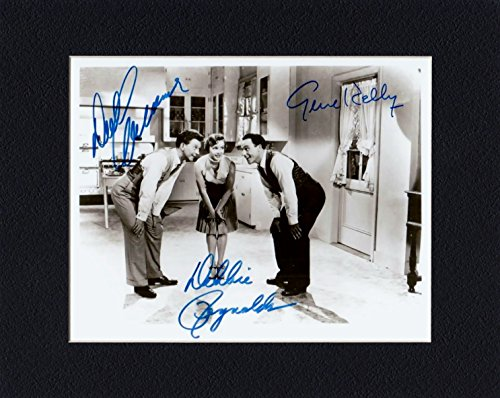 DEBBIE REYNOLDS, DONALD O'CONNOR, GENE KELLY 8 by 10 CUSTOM MATTED PHOTO AUTOGRAPH DISPLAY...WE SHIP THE DAY OF - Payment Store