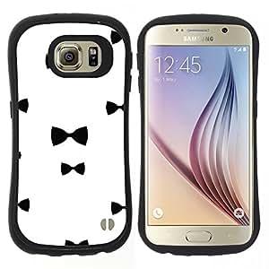 """Hypernova Slim Fit Dual Barniz Protector Caso Case Funda Para Samsung Galaxy S6 [Chique Blanco Negro minimalista""""]"""