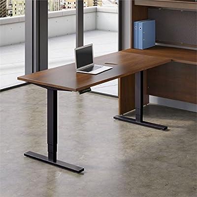 "Bush Business 72"" Height Adjustable Standing Desk in Hansen Cherry"