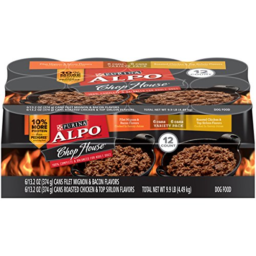 Alpo Pet Foods (Purina ALPO Chop House Variety Pack Adult Wet Dog Food - (12) 13.2 oz. Cans)