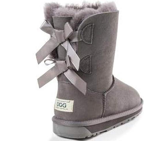 b1e8e3730f9 OZwear UGG Bowknot Mid-Tube Snow Boots: Amazon.co.uk: Shoes & Bags