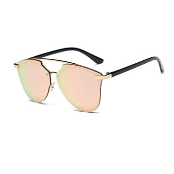 d8e6469f36dce0 LHWY Femmes hommes Eté lunettes aviateur miroir lentille lunette de soleil lunettes  de soleil rétro Vintage