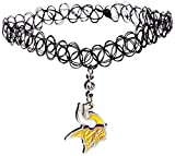 Siskiyou NFL Minnesota Vikings Knotted Choker, Black, Stretch